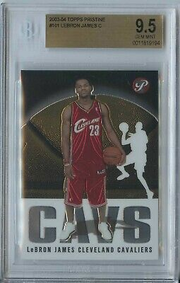 Lebron James 2003 04 Topps Pristine #101 Cavaliers/Lakers RC Rookie BGS 9.5