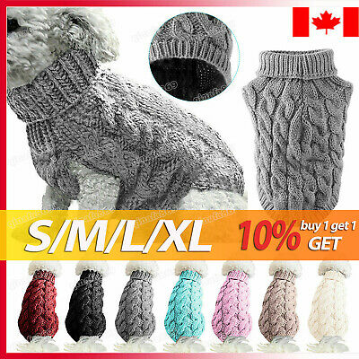Winter Dog Clothes Puppy Pet Cat Sweater Jacket Coat For Small Dogs CA