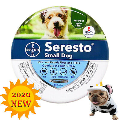 Bayer Seresto Flea and Tick Collar for Small Dogs Up to 18 lbs Free Shipping New
