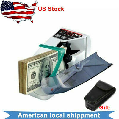 Mini Portable Handy Bill Cash Money Count Currency Counter Machine LED Display