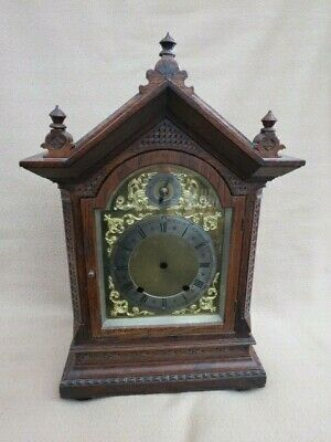 Antique Winterhalder & Hofmeier Carved Oak Bracket Clock Case Only