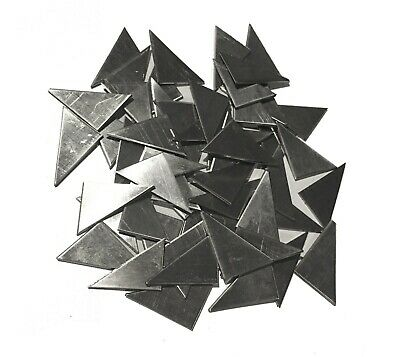 """Weld on gusset 304 Stainless Steel 30pc 3/4""""x1"""" 18ga triangle plate metal sheet"""