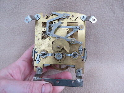 Vintage Smiths 8 Day Striking Clock Movement For Spares Or Repair  (Lot F)