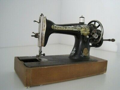 Vintage Old Sewing Machine Singer Hand Crank Antique