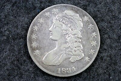 Estate Find 1834 - Capped Bust  Half Dollar!!   #H3243