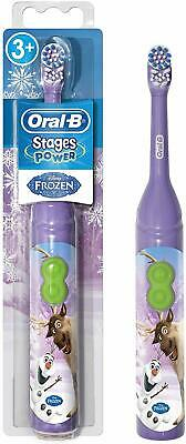 Oral-B Stages Battery Toothbrush Disney FROZEN Children Kids 3+ Years New