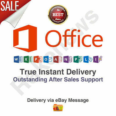 MS Office 365 2019 Professional Plus 5 Devices Windows Mac 10s DELIVERY