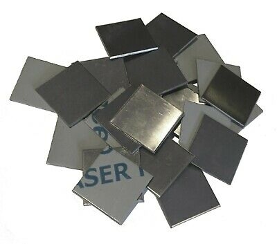 """30pc 304 Stainless Steel 1.25"""" x 1.25"""" 16ga (.060) Square Sheet Plate Welding"""