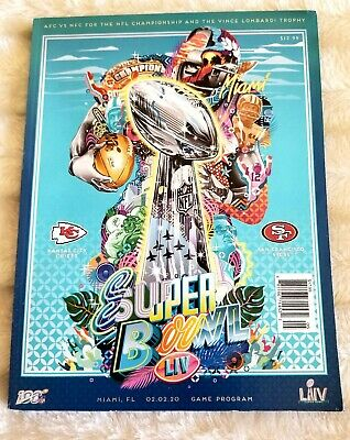 Super Bowl LIV 54 Official National Program Kansas City Chiefs vs 49ers - NEW!!