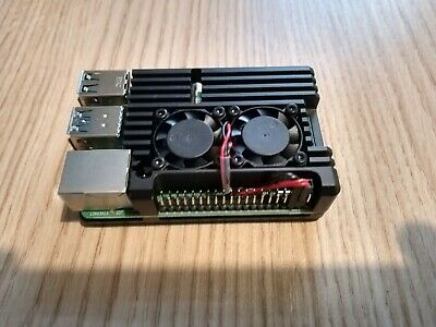 Raspberry Pi 4 Model B 2GB - Dual Fan Heatsink - PSU