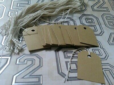 200 unstrung Brown card stock retail price tags gift bag tags read descriptions