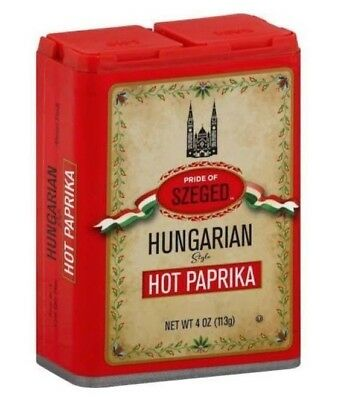 2 PACK Pride of Szeged HUngarian Hot Paprika Spice Kitchen Seasoning CLEAROUT
