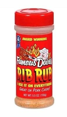 3 PACK Famous Dave's Rib Rub Great on Pork Chops Too Seasoning Grilling Kitchen