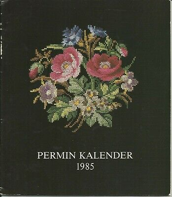 Permin Calender 1985 Roses with cross stitch patterns