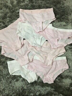 Girls Knickers Briefs X8 Primark Age 9-10 Years NEW