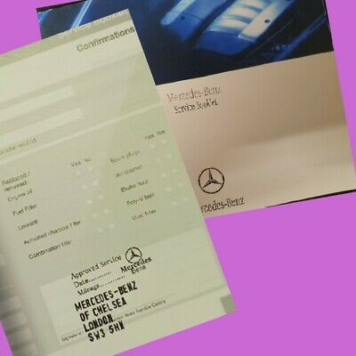 Mercedes  Service History Books For All Models (Stamped) Mercedes Service Book