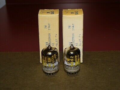 Pair, Western Electric 417A/5842 Audio Preamplifier Tubes, Good, Strong