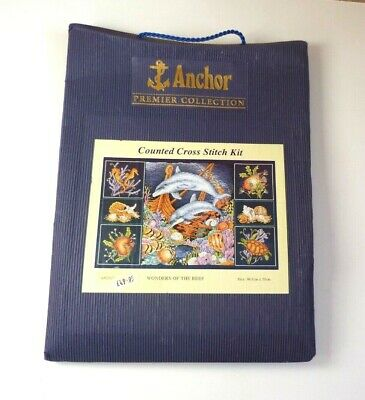 Anchor Premier Collection Counted Cross Stitch Kit ~ Wonders of the Reef APC912