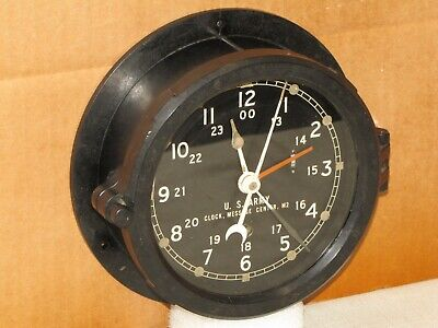 """Chelsea  U.s.army M2 Message Center Clock~6"""" Dial~1958~Restored"""