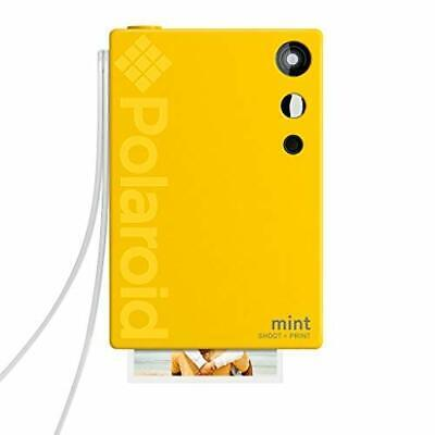 Polaroid Mint Instant Print Digital Camera (Yellow), Prints on (Camera|Yellow)