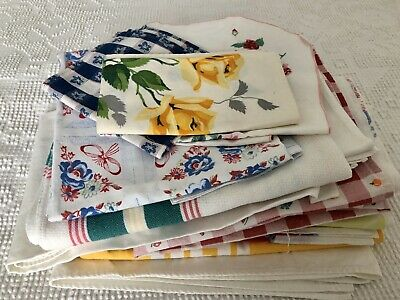 Cutter Lot of Vintage Printed Tablecloths and A Few Napkins - Some Wilendur