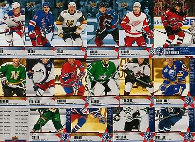 2020 Upper Deck Hockey Card Day Usa 17 Card Complete Set Makar Kakko Hughes Rc