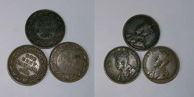1911 1916 1919 Canada Large Cets Lot 3 Coins Inv#392-20
