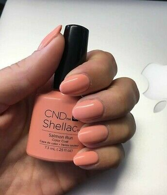CND Shellac Salmon Run Color LED Gel UV Neu Nagellack Top Super Qualität
