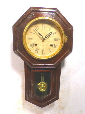 Antique Eight Day Striking Regulator Wall Clock