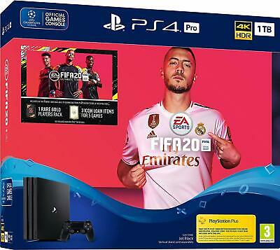 PS4 PRO 1TB Console - FIFA 20 Bundle - Sony Playstation * BRAND NEW * UK PAL