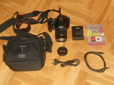 CANON EOS 1100D + OBJETIVO EFS 18-55 IS II + SD 64 Gb + BOLSA. PERFECTO ESTA-(2)