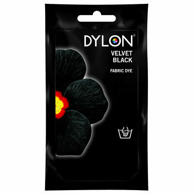 Black Fabric Dye Hand Wash Dylon Clothes Colour Changing Colouring Textile NEW