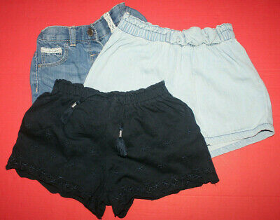 Three pairs of girl's shorts by Next. Age 2-3 years / height - up to 98cm.