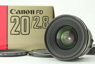[Mint in Box] Canon NEW FD NFD 20mm F2.8 Wide Angle MF Lens From Japan #340