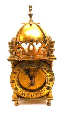English Signed Smith's Mechanical Brass Lantern Clock--Made In Great Britain
