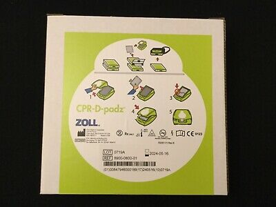 Zoll Medical CPR-D-Padz For AED plus Defribrillator Elecrtrode Pad 8900-0800 New