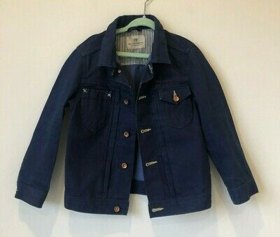 SCOTCH SHRUNK Boys Designer Denim Jacket Sz 6 in EUC RRP$199