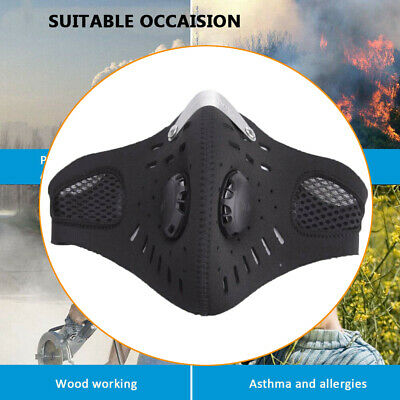 PM2.5 Breathable Anti-dust Haze Face Mouth Mask Respirator + Replaceable Filter