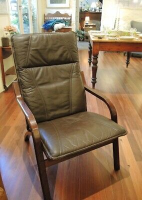 Vintage Danish Stouby Easy Chair in Leather