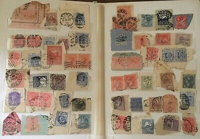 Australian State Stamps Album On Paper On 5 Pages.