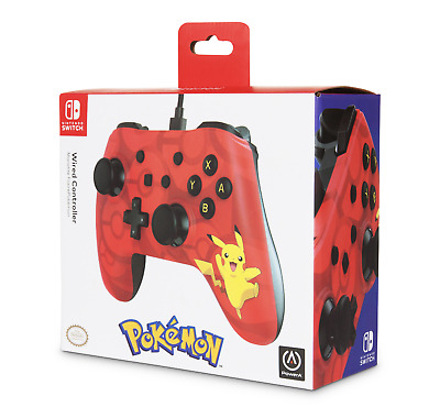 Nintendo Switch PowerA Pokemon Enhanced Wired Controller Pikachu New In Box