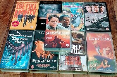 Joblot Vhs Video Tapes Movies Films Bundle Classic Collection Mixed Lot