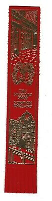 The Mustard Shop. Red Leather English Bookmark.