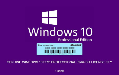 Windows 10 Pro Licence Key - Fast Delivery - 24/7 Support 🔥