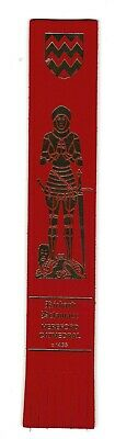 Hereford Cathedral. Red Leather English Bookmark.