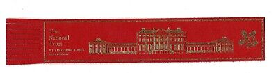 The National Trust (Attingham Park). Red Leather English Bookmark.