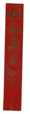 Whitby. Red Leather English Bookmark.