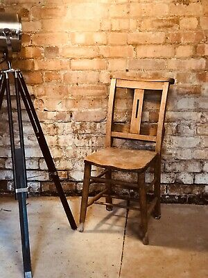 Vintage Solid Wood Chapel Chair Lovely