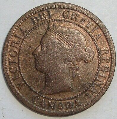 1887 Canada One 1 Cent Victoria Large Penny Coin