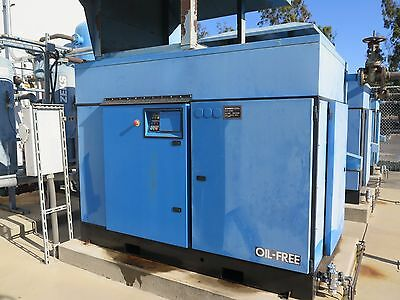 KOBELCO KNW Air Compressor 250 HP Oil Free Rotary Screw Two Stage KNWA1-G/H